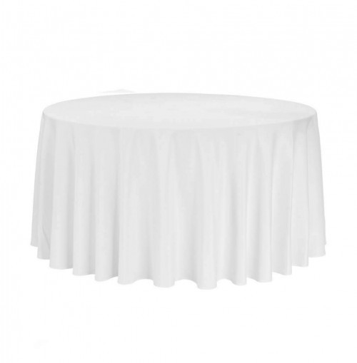 runde weiße Tischtücher mieten Mietmöbel Föhr