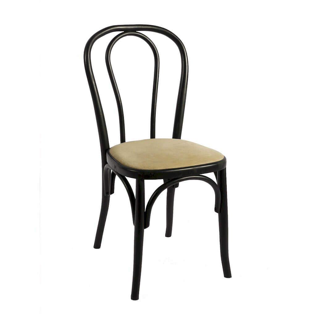 Thonet stuhl mit sitzpolster f hr for Thonet stuhl schwarz