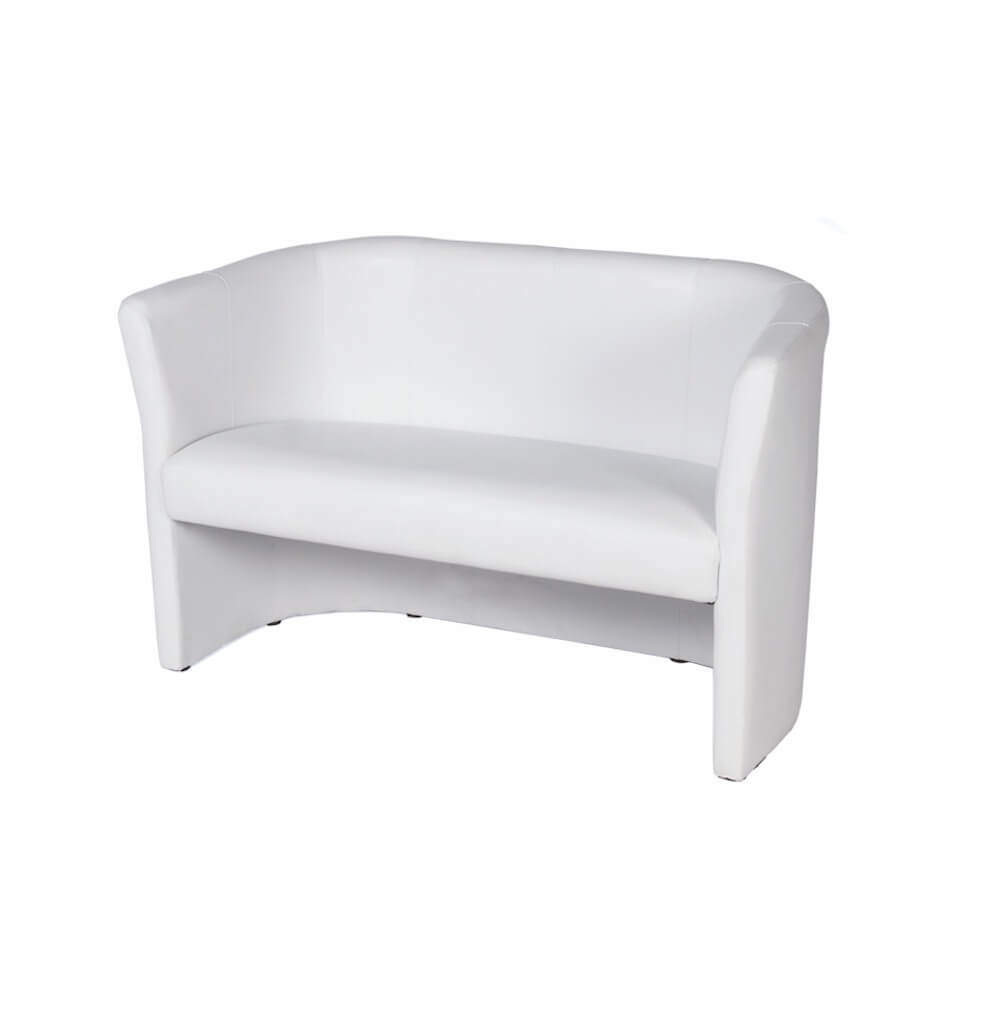 "GIACOBELLI"" 2er Sofa, weiß – Föhr"