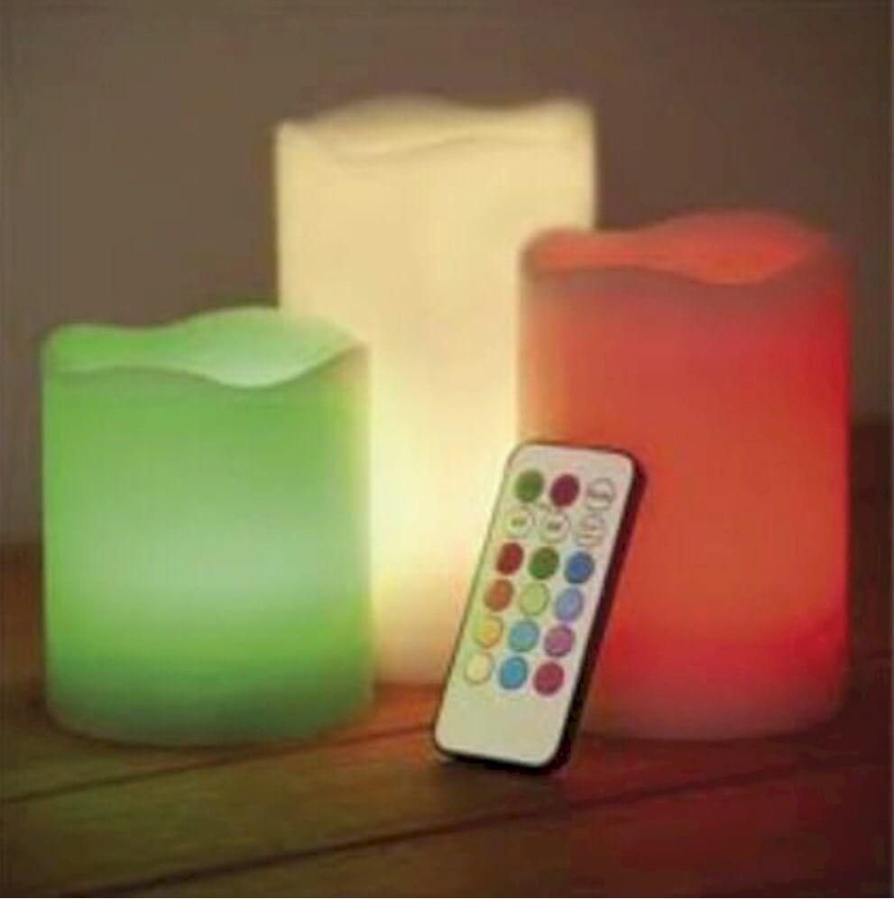 Inspirationen Led Sonnenschirm Beleuchtung Rawyler S 2018: LED Wachskerzen Mit Farbwechsler