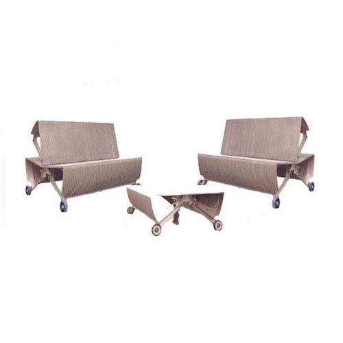 Sitzmöbel aus Rolltreppen mieten