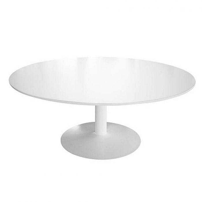 Tisch Trompetenfuss weiß