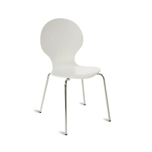 Stapelbarer Stuhl weiß für Konferenzen