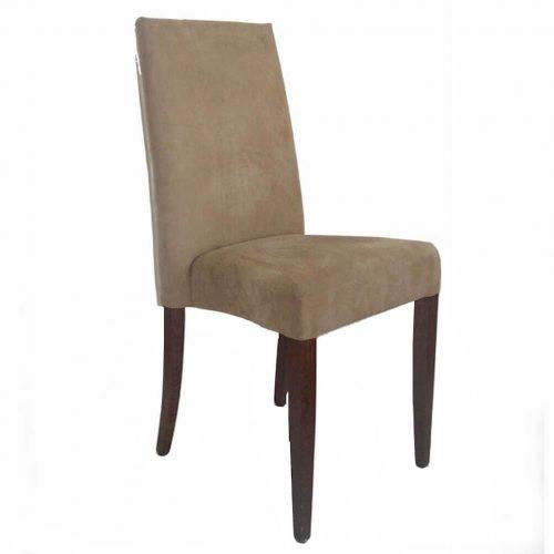 bequemer Stuhl mit Stoffbezug