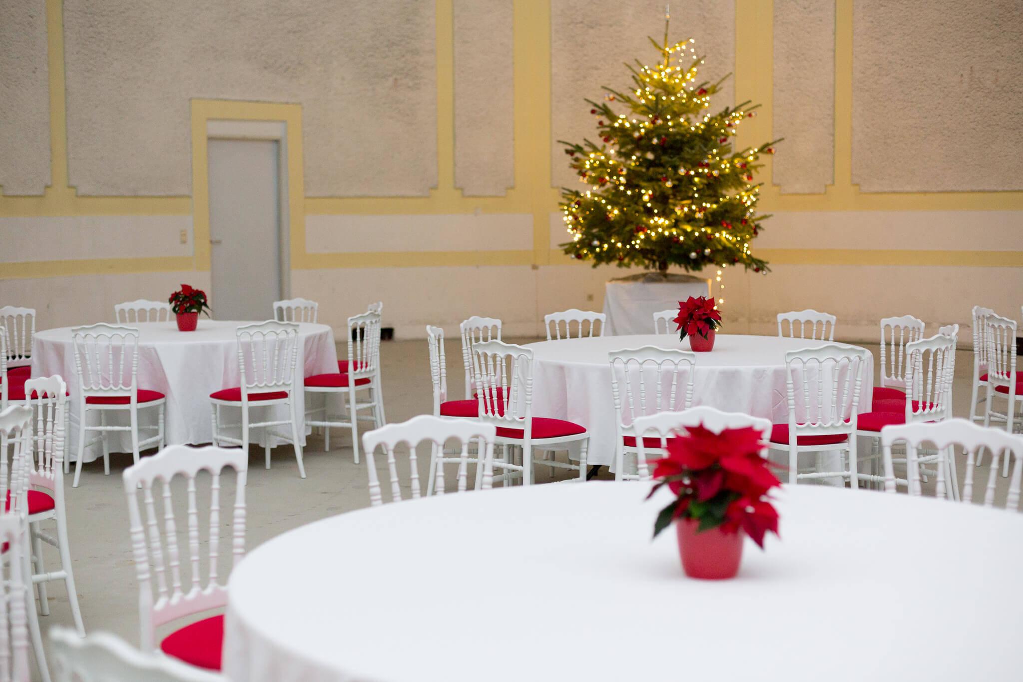 Weihnachtsfeier mit Mietmöbeln von Mietmöbel Föhr